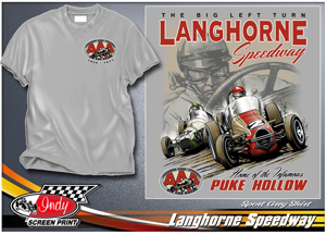 Picture of Langhorne Speedway throwback tee